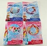 Disney Princess and Frozen Inflatable Swim Summer Fun Package Deal (Beach Ball, Arm Floaties, 2 Swim Rings)