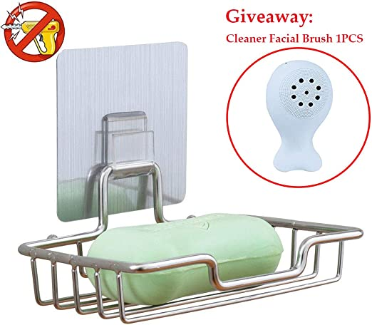 1pcs Stainless Steel Wall Mounted Shower Soap Holder Soap Dish Basket Tray Rack