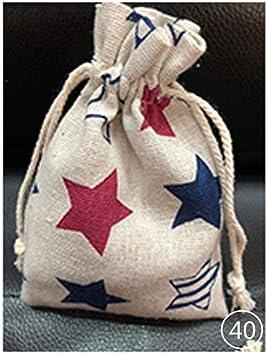 100 piezas de bolsas de algodón para bolsas de tela de regalo con ...