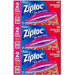 Ziploc Quart Storage Bags, 144 Count
