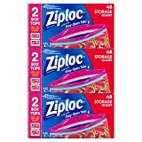 ziploc bags 2 gallon slider - Ziploc Storage Bags, Quart, 3 Pack, 48 ct