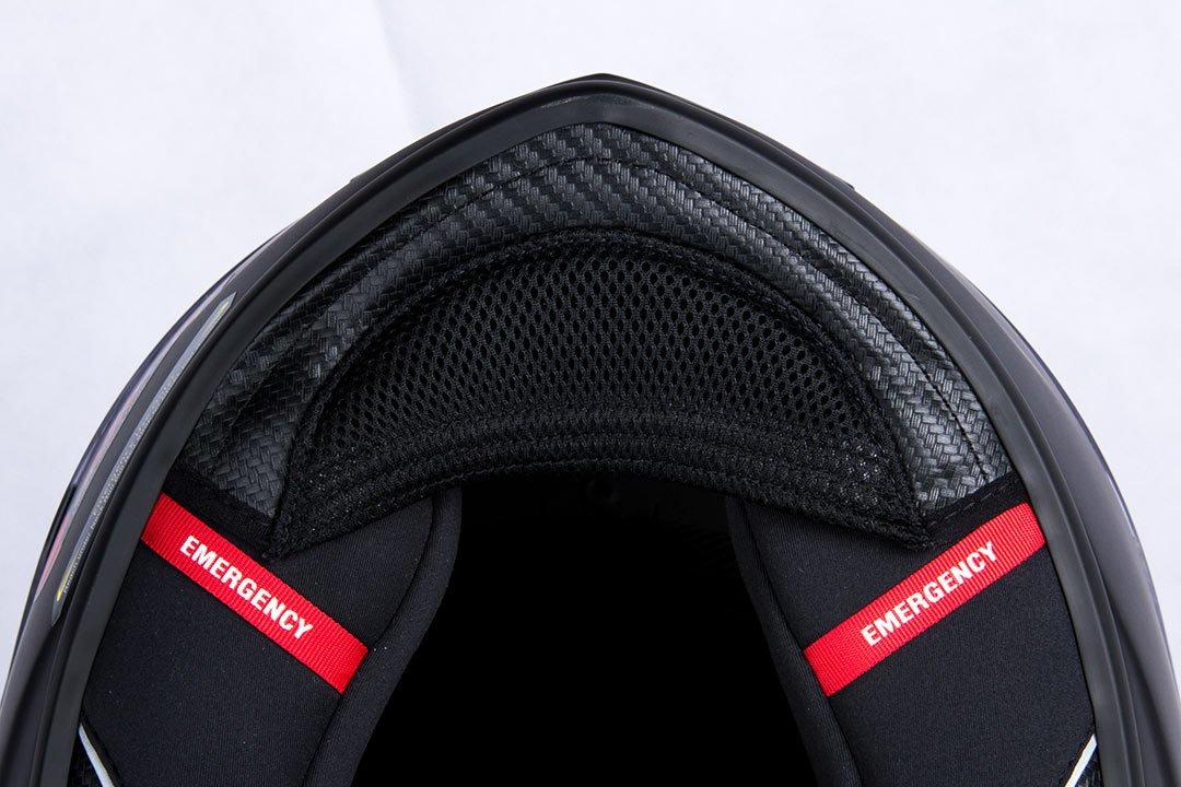 M Scorpion 2476-25849 Casco para moto Exo 1400/Air Carbon Solid negro