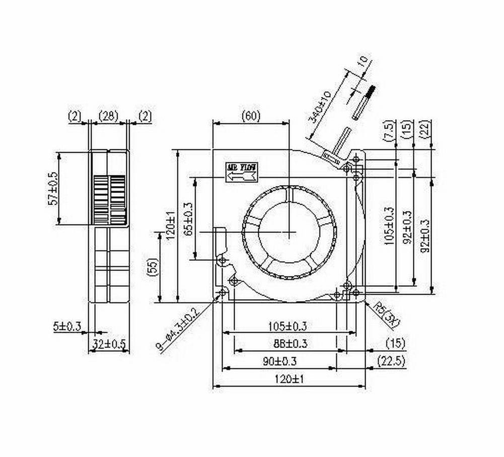 amazon com gdstime 120mm x 120mm x 25mm dc 12v dual ball bearing rh amazon com