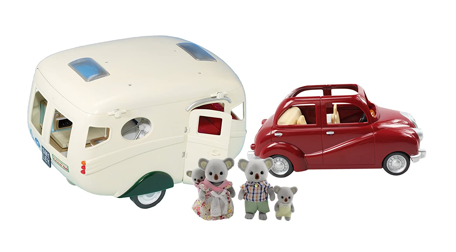 Calico Critters Caravan Camper, Cherry Cruiser and Koala