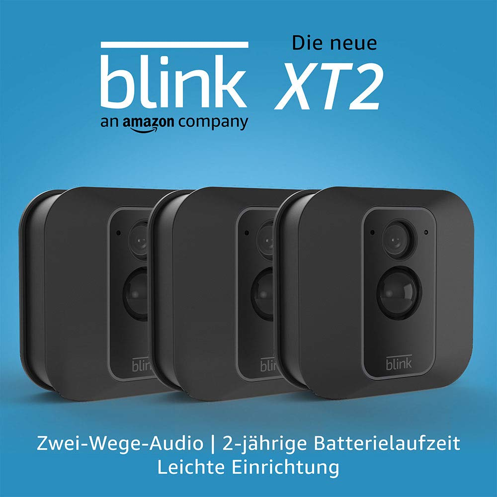 3rd Gen Anthrazit Stoff Die neue Blink XT2 System mit 3 Kameras funktioniert mit Alexa Echo Dot
