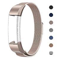 Swees Fitbit Alta HR und Alta Armband Sport, Edelstahl Uhrenarmband Mailänder Magnetschleife Edelstahlband Ersatz Armband Für Fitbit Alta HR und Alta