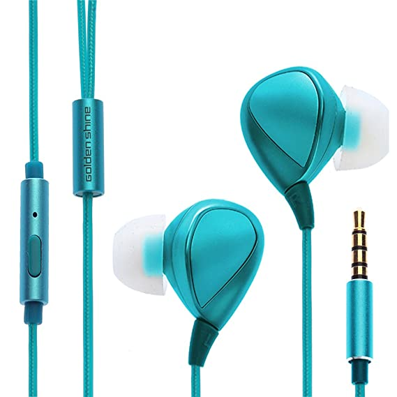 Amazon.com: Golden shine P100 Wired Headphones Universal Drive-by ...