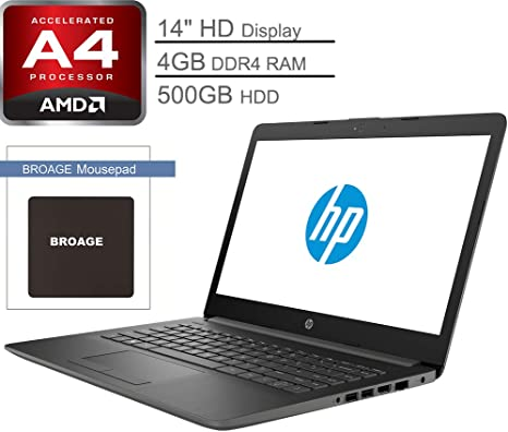 Amazon Com Hp 14 14 Micro Edge Laptop Computer Amd A4 9125 Up To 2 6ghz 4gb Ddr4 Ram 500gb Hdd Wifi Bluetooth 4 2 Hdmi Usb 3 1 Rj 45 Webcam Charcoal Gray Windows 10 Home Broage Mouse
