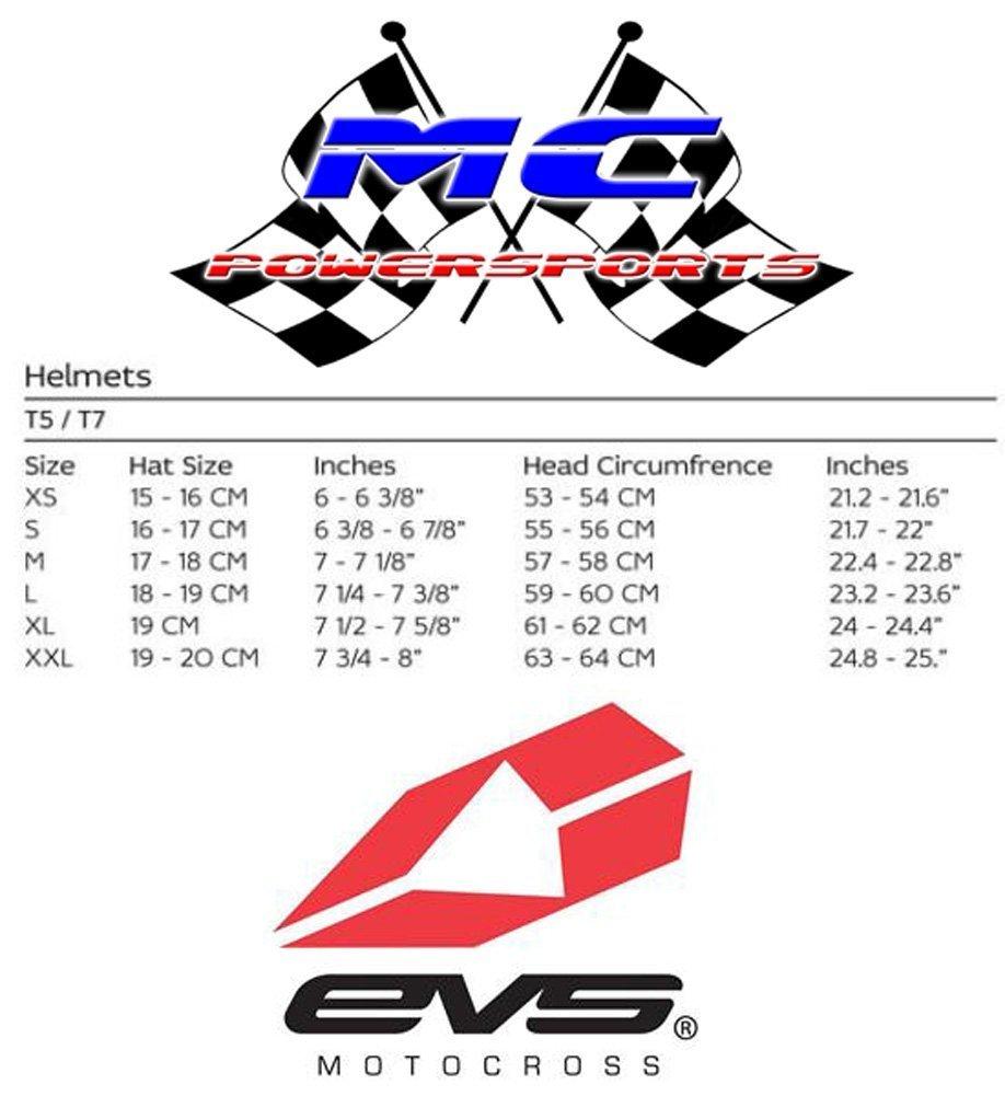 Amazon.com: EVS Sports Vortek T7 Helmet with Crossfade Graphic (Black, X-Large): Automotive