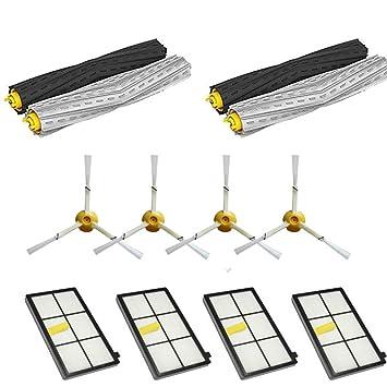 Cepillos y Filtros Kit de Reemplazo para iRobot Roomba 800/900 Series 800 870 880 900 980 Accesorios de Piezas de Reemplazo para Aspiradoras (12 in 1): ...