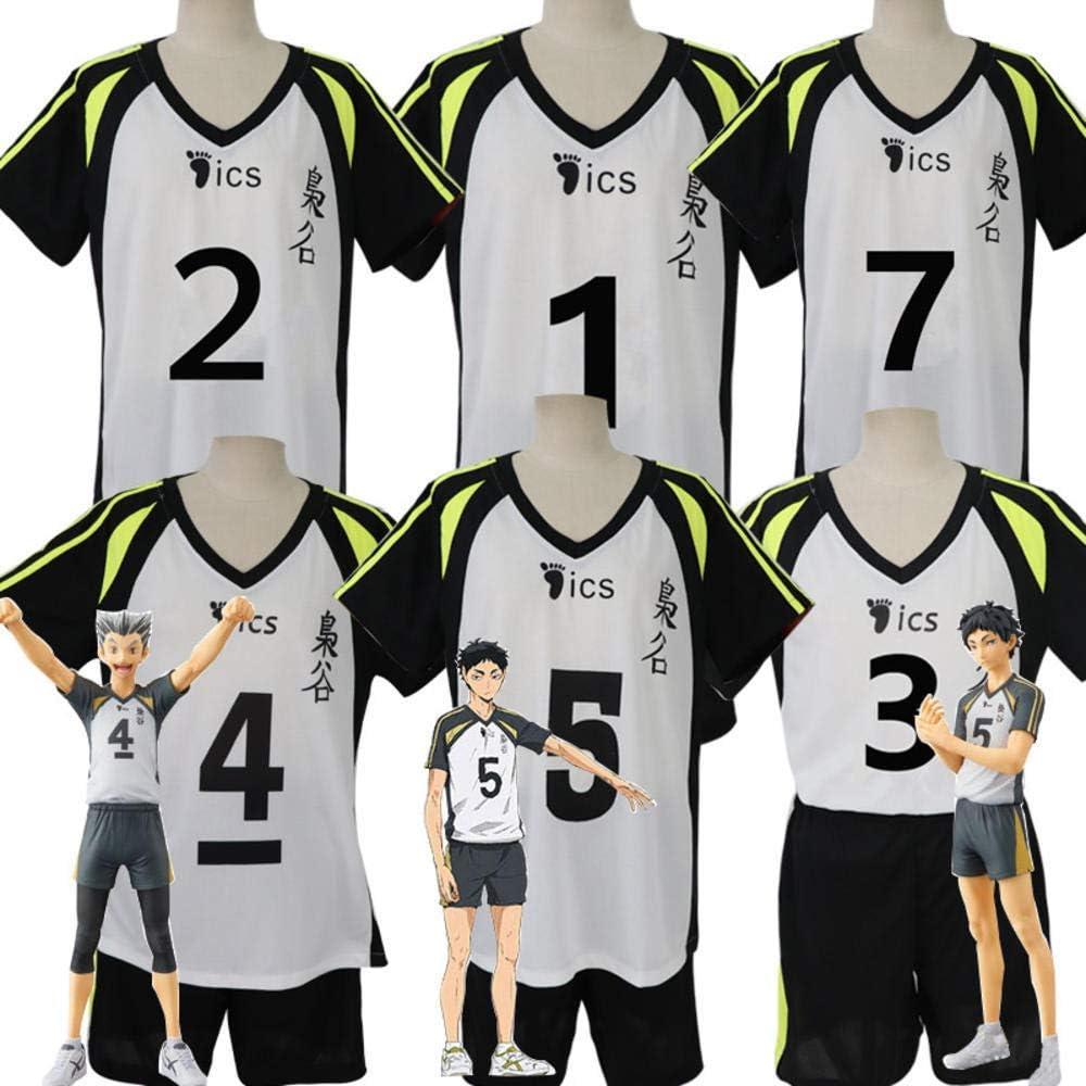 hhalibaba Hot Anime Haikyuu Fukurodani Academy Uniform Bokuto Koutarou Haikyu Jersey Cosplay Disfraz Top + Shorts