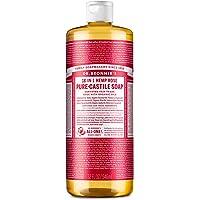 Dr. Bronner's 18 en 1 Hemp Rose Pure-Castile Jabón, 32 fl oz / 946 ml