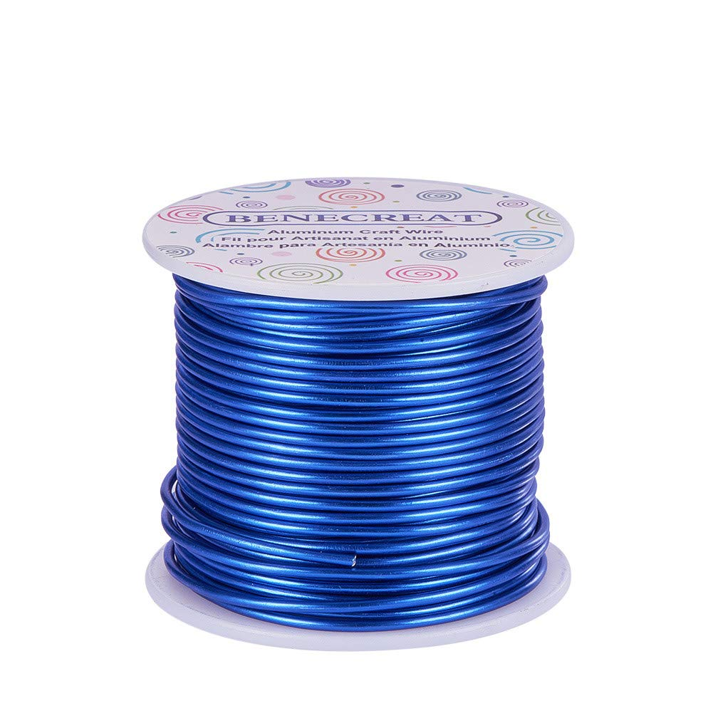BENECREAT 12 17 18 Gauge Aluminum Wire Brown Anodized Jewelry Craft Making Beading Floral Colored Aluminum Craft Wire 12 Gauge,100FT