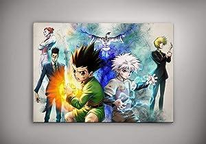 Hunter x Hunter Poster, Anime Decor, Anime Watercolor, HxH, Gon, Killua, Leolio, Netero Wall Poster Home Wall Decor Gift for Anime Lover