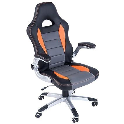 Amazon Com Merax Ergonomic High Back Racing Style Pu Leather Gaming