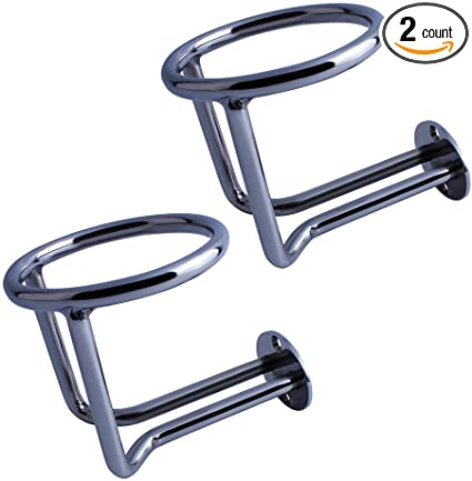 2PCS Ring Auto Boat Cup Bottle Drink Holder Stainless Steel Easy Setup Durable