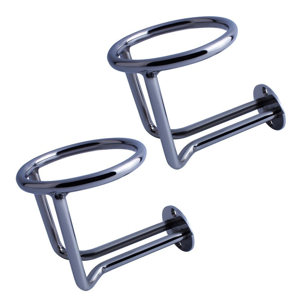 M-ARINE BABY 2 PCS Boat Ring Cup Holder Stainless Steel Ringlike Drink Holder For Marine Yacht