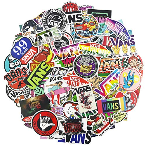 Brand Logo Vans Laptop Stickers 100 Pcs Pack Cool Vinyl Waterproof Sticker Skateboard Pad MacBook Car Snowboard Bicycle Luggage Decal