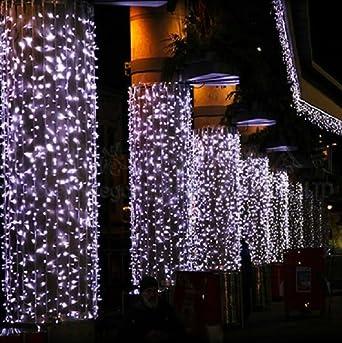 Zelesouris 6m x 3m 800 leds curtain light white fairy string zelesouris 6m x 3m 800 leds curtain light white fairy string lightswedding lights aloadofball Images