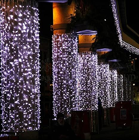 Zelesouris 6m x 3m 800 leds curtain light white fairy string lights zelesouris 6m x 3m 800 leds curtain light white fairy string lightswedding lights aloadofball Image collections