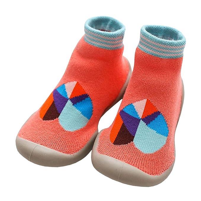 LPATTERN Calcetines Estampados Primeros Pasos con Suela de Goma Antideslizantes para Bebés Niños Zapatillas de Algodón Invierno: Amazon.es: Ropa y ...