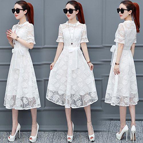 De falda Encaje Encaje Playa vestido Vestido vestido Xuanytp vestido Blanco HfvEA