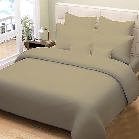 200 G/m² 600 Hilos 100% algodón Egipcio, Combo Colcha de Cama 5 Piezas con UK tamaño Individual y Rosa Color, marrón Topo, UK Super King (Cama de Matrimonio Grande): Amazon.es: Hogar