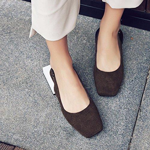 El nuevo estilo de mujeres sandalias de verano con Mary Jane Zapatos Retro Abuela Zapatos Zapatos Mujer Romana de Luz Brown