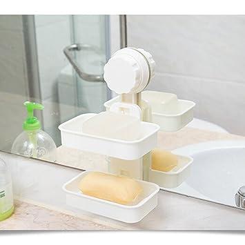 Leorx Cuarto de baño accesorios doble capa de jabón platos ...
