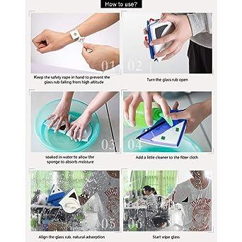 Baffect Inicio Lateral Doble magnético Ventana Limpiador Tanto de Cristal Lado de la Superficie Herramientas Cepillo de Limpieza del limpiaparabrisas ...