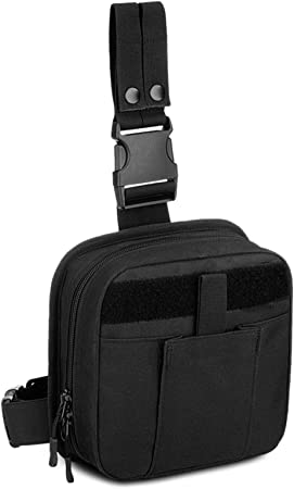 CamGo Tactical First Aid Kit Bag Medical Utility Pouch Multifunctional Molle Drop Leg Bag Thigh Bag Black