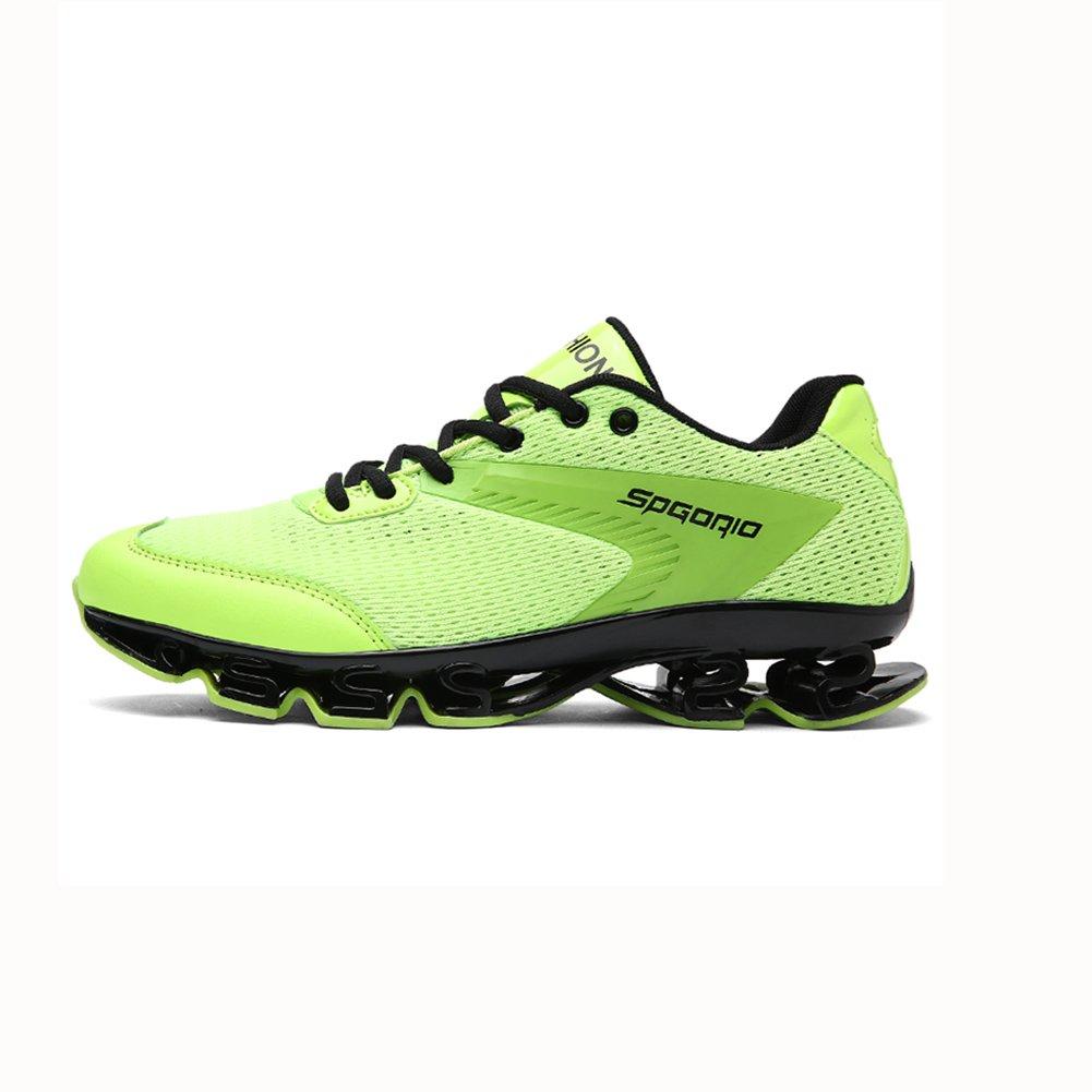 YIXINY Deporte Zapato Moda Calzado De Hombre Deportes Al Aire Libre Zapatillas De Correr Transpirable Absorción De Choque Primavera Y Verano ( Color : Verde , Tamaño : EU40/UK7/CN41 ) EU40/UK7/CN41 Verde