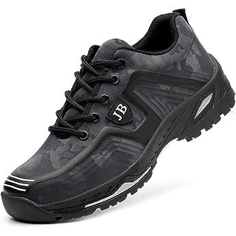Zapatos de Seguridad Hombre Trabajo Zapatillas de Seguridad Mujer Punta de Acero Ligeros Comodos Botas Industrial Sneakers Construcción Azul-2 36 EU: Amazon.es: Zapatos y complementos