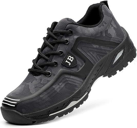 Oferta amazon: Zapatos de Seguridad para Hombre Zapatillas Zapatos de Mujer Seguridad de Acero Ligeras Calzado de Trabajo para Comodas Unisex Zapatos de Industria y Construcción Talla 44 EU