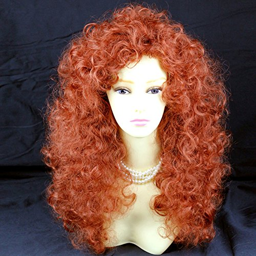 Wild Untamed Long Curly Full Wig Fox Red Ladies Wigs UK by Wiwigs ()