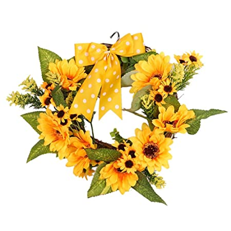 Christmas Door Wreath Decorations Sunflower Artificial Wreath ...