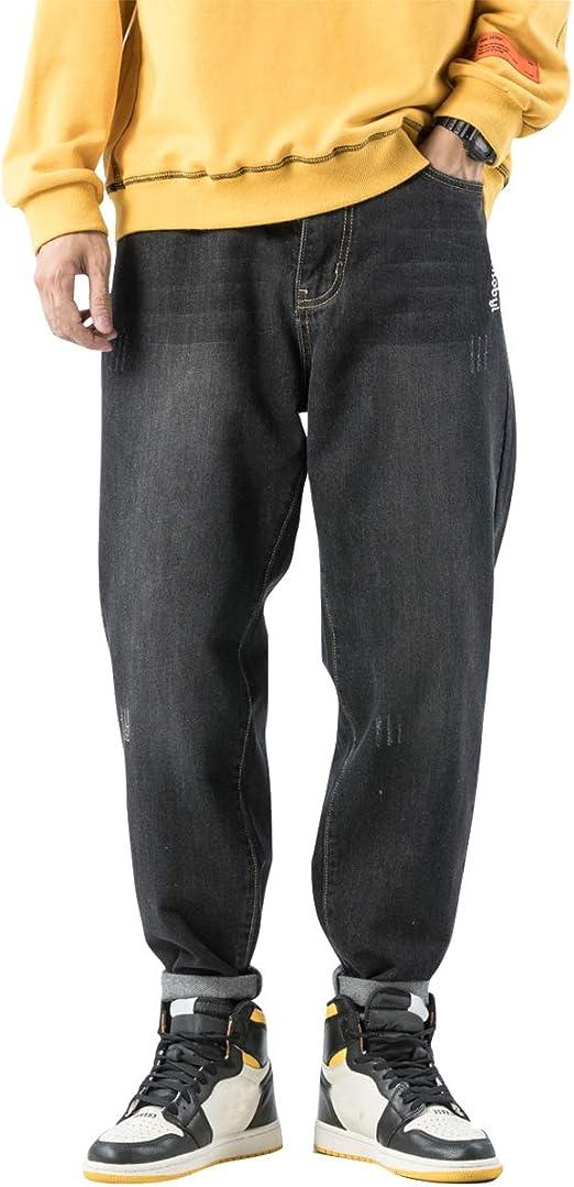 [Mirroryou(ミラーユー)] デニムパンツ メンズ おおきいサイズ ダメージ ストレッチ