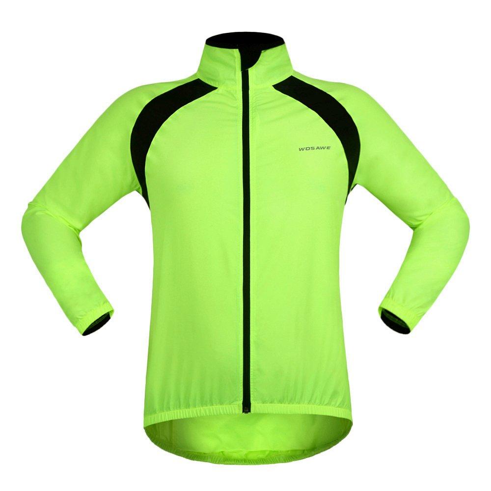 WOSAWE Men's Wind Resistant Water Repellent Lightweight Running Activewear Cycling Wind Jacket