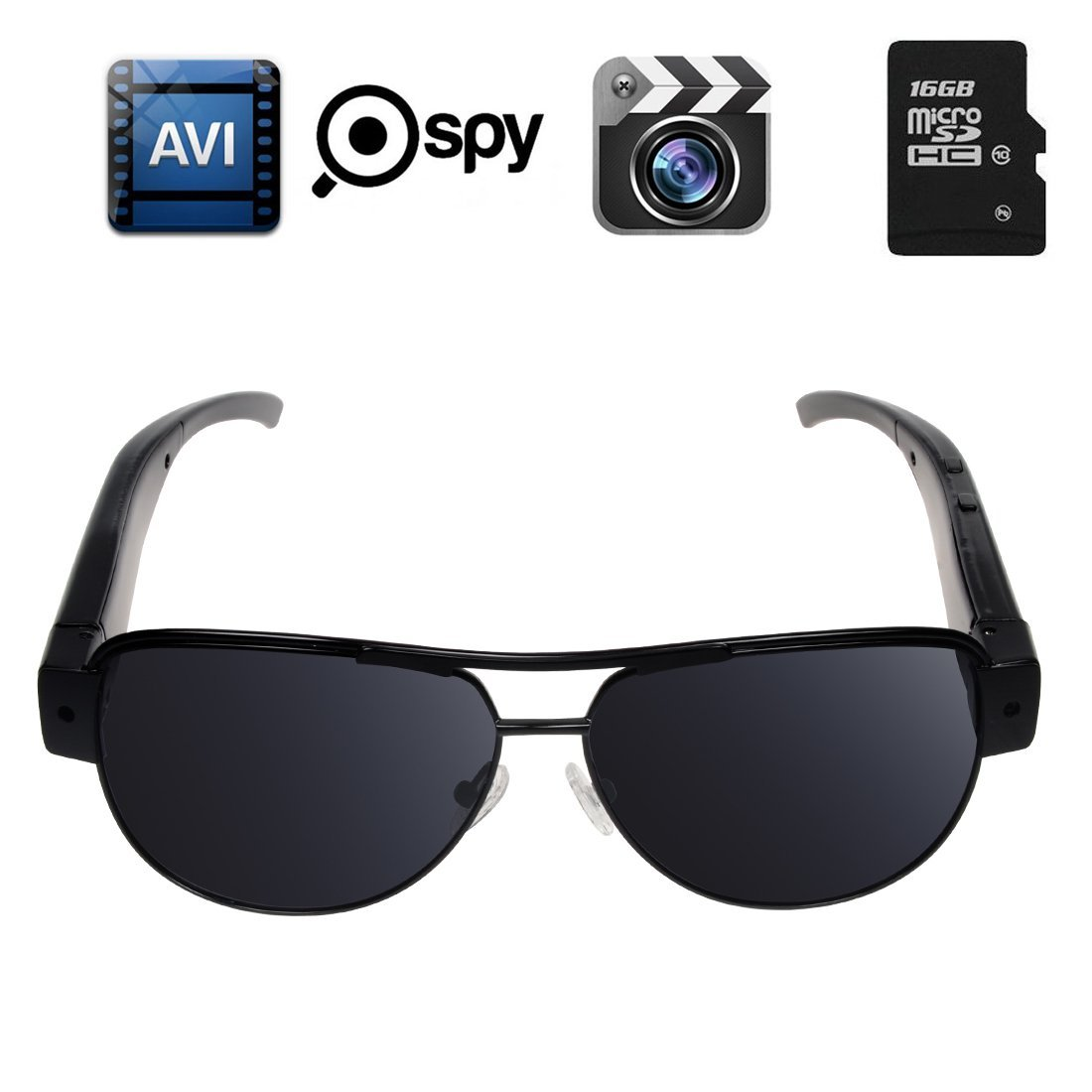 c575f415708c Corprit HD 1080P Fashionable Spy Sunglass DVR Camera