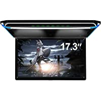 "17.3"" Car Overhead Flip Down Monitor Screen Dispaly 1080P Video HD Digital TFT Screen Wide Screen Ultra-Thin Mounted Car…"