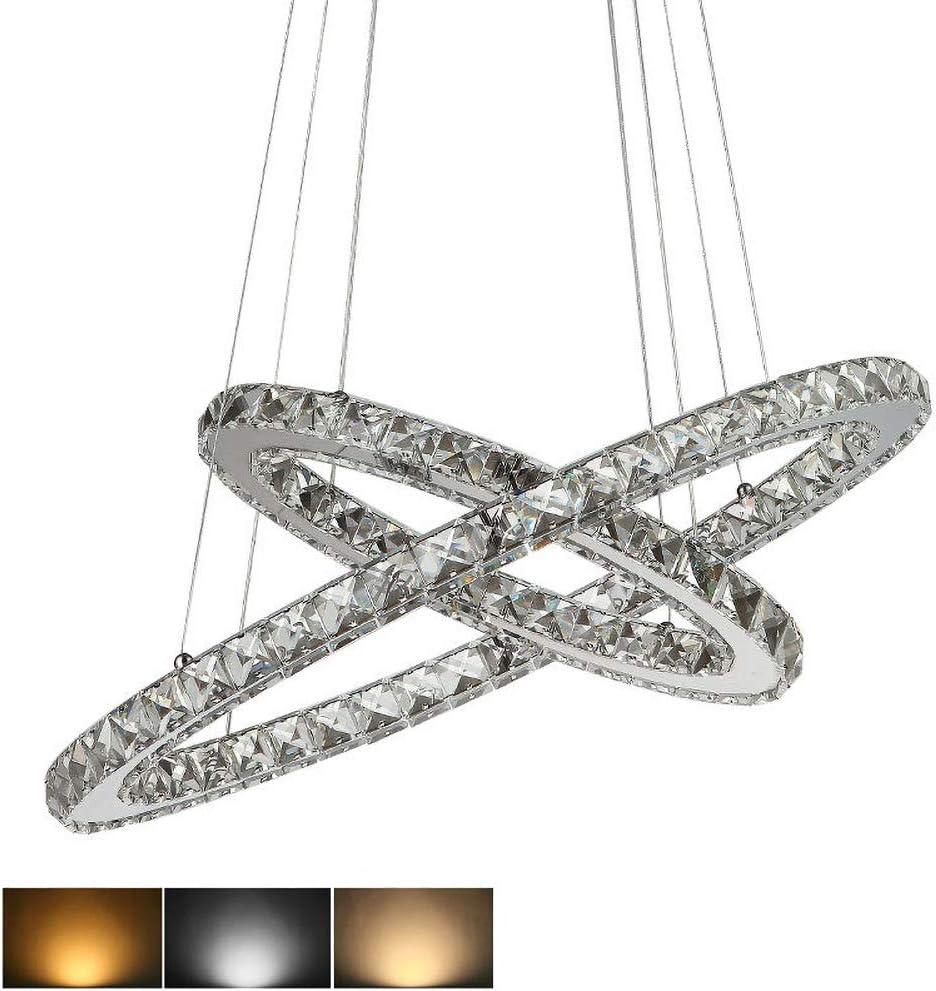 3 Rings Led K9 Modern Crystal Chandeliers Led Chandelier