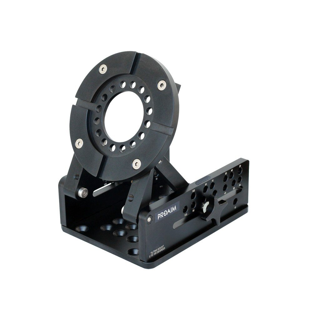 PROAIM Mitchell Wedge Tilt Levelling Camera Mount Plate for Mitchell Fluid Head, Tripod Stand | For Over & Under-Slung Tracking & Static Shots, Tilt Angle - 0° to 105° Payload - 100kg/220lb(P-MTCL-WP) by PROAIM