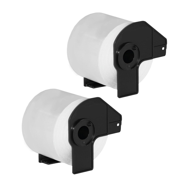 QL-500BW como DK-11218 QL-500BS QL-500A QL-500 QL-1060 QL-1050N QL-1060N Rollo de etiquetas adhesivas circulares para Brother P-Touch QL-1050
