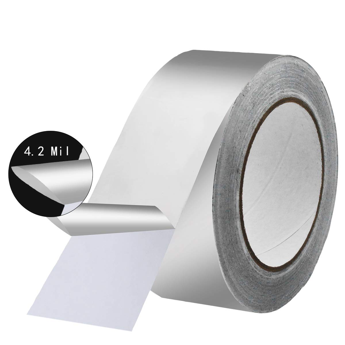 KIWIHUB 4.2 Mil (2 inch-82ft) Aluminum Tape/Aluminum Foil Tape, Silver,Good for HVAC, Sealing & Patching Hot & Cold Air Ducts, Metal Repair