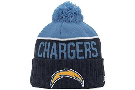 5c55f2f6b10 Image Unavailable. Image not available for. Color  New Era 2015 On Field  Sport Knit San Diego Chargers Beanie (Navy Light Blue