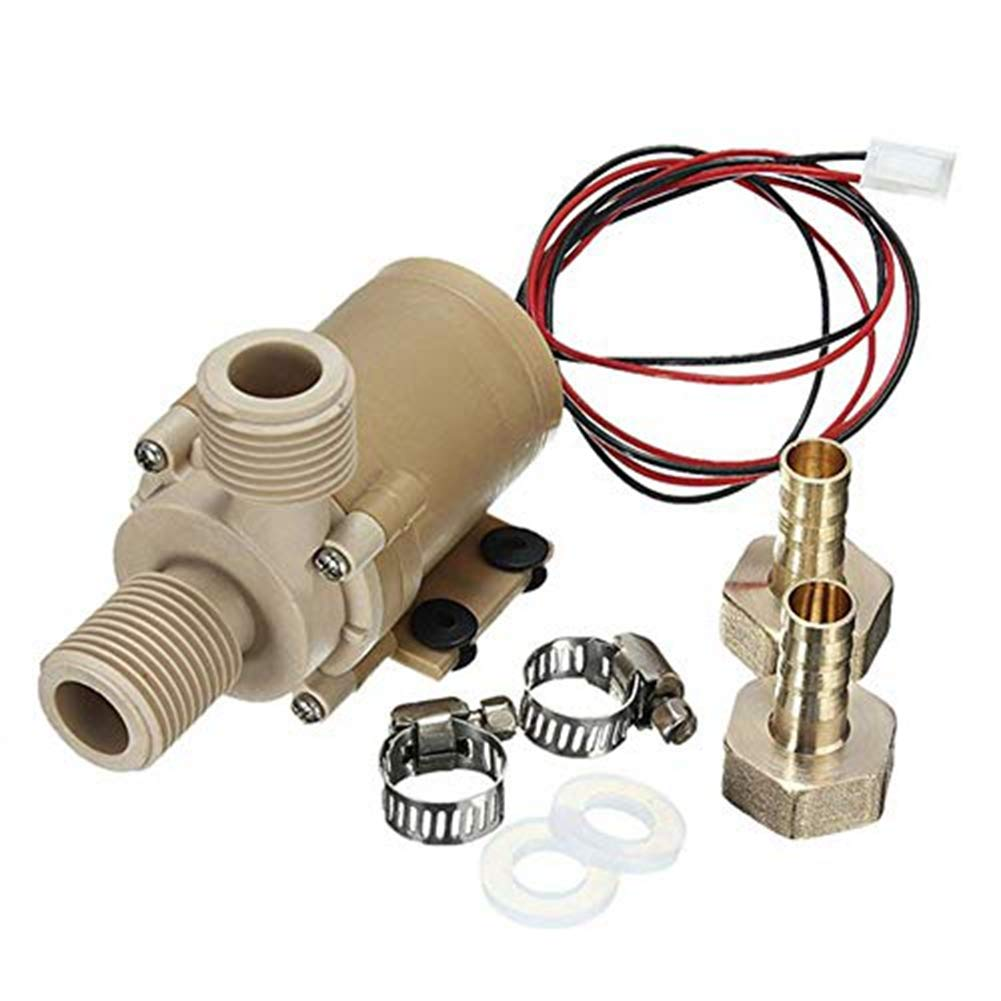 JapanAmStore Solar DC 24V Hot Heater Water Circulation Pump Brushless Water Pump Low Noise 6M