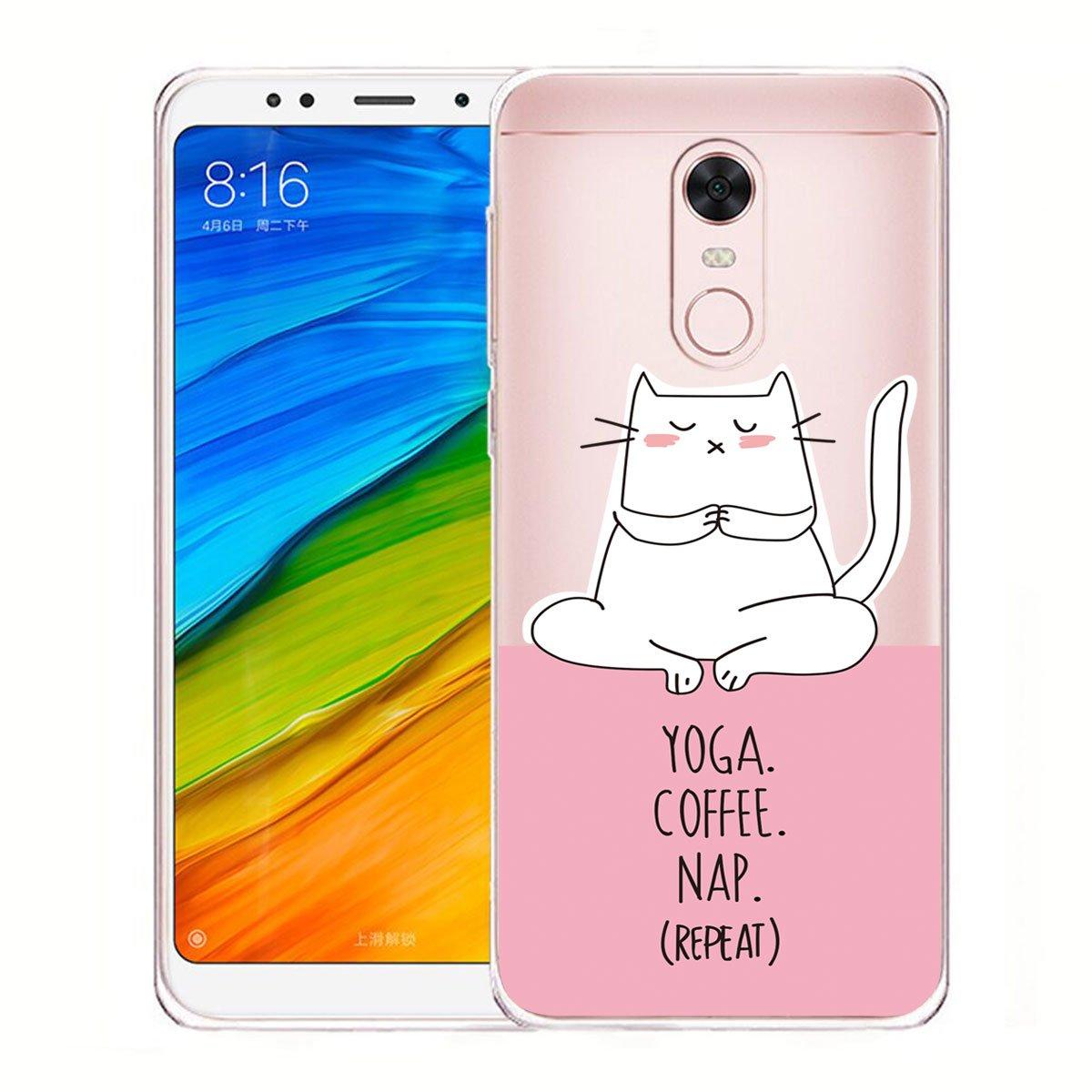 5.99 IJIA Transparente Nette Katze TPU Weich Silikon Sto/ßkasten Cover Handyh/ülle Schutzh/ülle Handyh/üllen Schale Case Tasche f/ür Xiaomi Redmi 5 Plus WM104 H/ülle f/ür Xiaomi Redmi 5 Plus