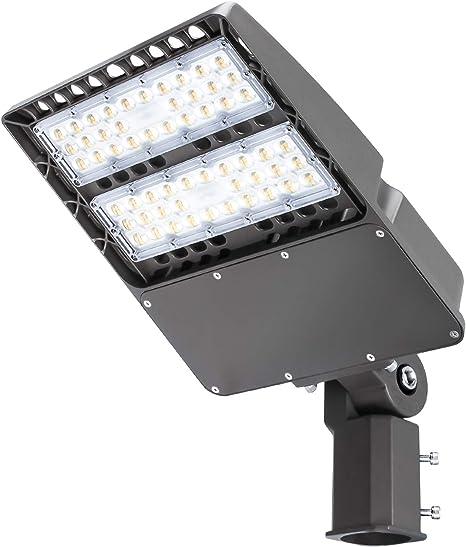 Waterproof IP65 150W LED Post Top Light Fixture For Parking lot Street 5000K DLC