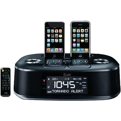 amazon com iluv imm183 hi fi dual alarm clock radio with noaa rh amazon com