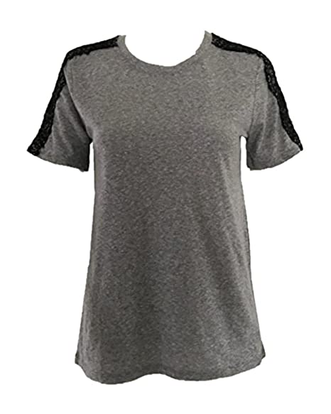 63042b3e82 GAP Ladies Crew neck Short sleeve T-shirt Grey at Amazon Women's Clothing  store: